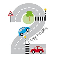 Cars Birthday Card for Boy, Age 2