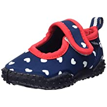 Playshoes Girl's Beach Footwear with UV Protection Hearts Water Shoes, Blue (Marine 11), 7.5 UK Child