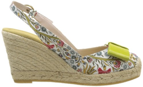 RAS 6062, Espadrilles femme Multicolore (Liberty Yellow/Kid Lime)