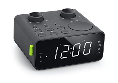 Muse M-17 CR Radiowecker mit LED-Display, zwei Weckzeiten, dimmbar (UKW, MW, AUX, Senderspeicher), schwarz