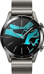 HUAWEI Watch GT 2 Elite (46mm), [Exklusiv +5EUR Amazon Gutschein], Titanium Gray