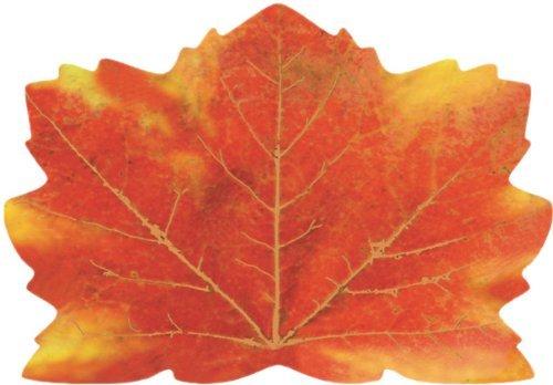 Platzdeckchen Esstisch-Dekor Ahornblätter Papier-Platzsets Herbst Herbst Ernte Ahornblätter Tischdecke Heimdekoration ()