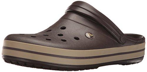 crocs Unisex-Erwachsene Crocband U Clogs, Brown (Espresso/Khaki), 38/39 EU