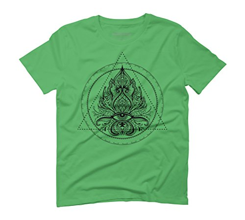 All Seeing Eye Men's Graphic T-Shirt - Design By Humans Green