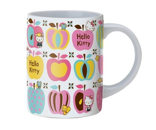 Hello Kitty Sanrio Apple (Hello Kitty Large Ceramic Mug: Apples)
