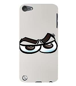 PrintVisa Cool Cartoon Emotion 3D Hard Polycarbonate Designer Back Case Cover for Apple iPod Touch 5