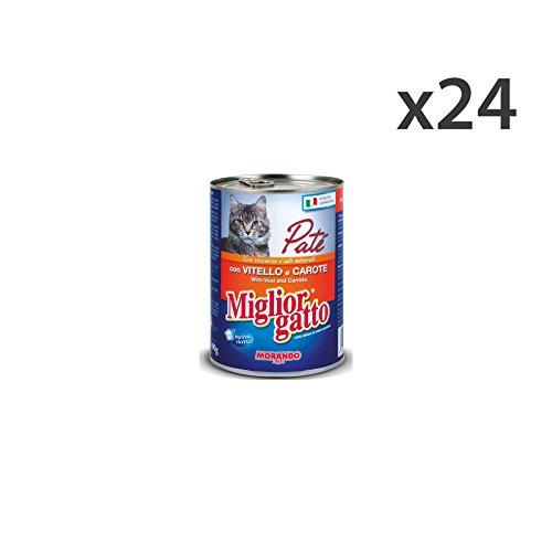 Set 24 MIGLIOR GATTO 400 gr. umido patè vitello/car. - La comida para