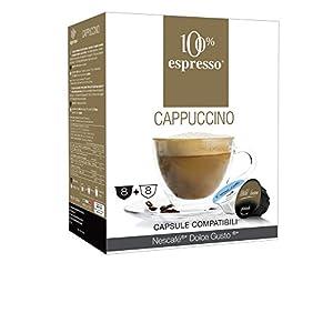 100% Espresso Capsule Compatibili Dolce Gusto Cappuccino 80 capsule