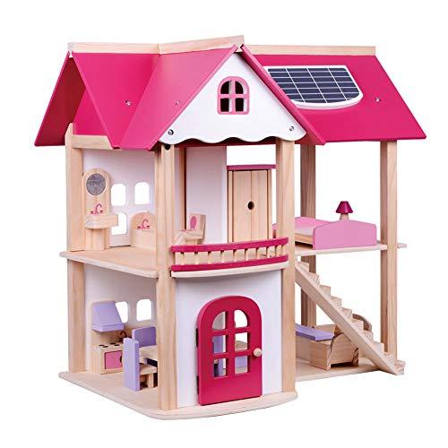 Wdxin casa delle bambole puzzle giocattolo casa delle bambole in legno a due piani casa dei giocattoli casa dei giocattoli per bambinicasa divertente stanza delle bambole.