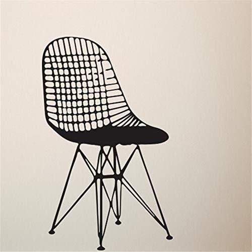 Wandtattoo Schlafzimmer Kreative möbel stuhl kunstwandhauptdekoration zubehör mitte des jahrhunderts moderne diy für wohnzimmer - Mitte Des Jahrhunderts Moderne Möbel