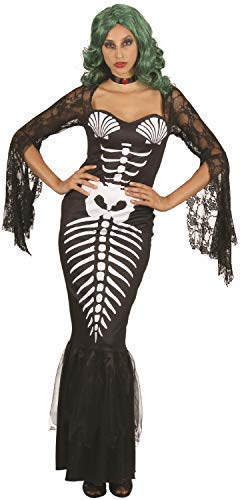 Damen-Skelett Meerjungfrau Gothik Fisch Dunkel Gruselig Halloween Horror -