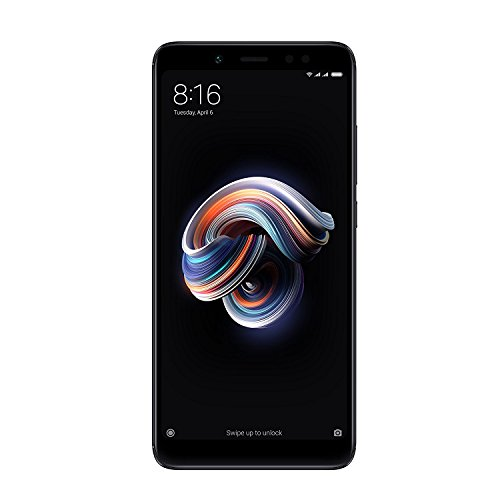 Xiaomi Redmi Note 5 (Hybrid Dual SIM) 64GB 5.99-Inch Android 7.1.2 UK Version SIM-Free Smartphone - Black (Official UK Launch)