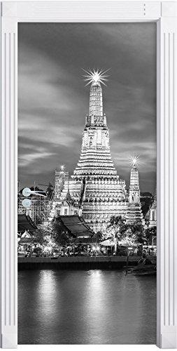 wat-arun-nachtansicht-tempel-bangkok-thailand-kunst-bw-als-trtapete-format-200x90cm-trbild-traufkleb