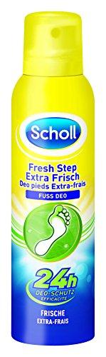 Scholl Fresh Step Extra Frisch Fuß Deo, Fußspray, Fußdeo, frische Füße, 3er Pack (3 x 150 ml Spray)