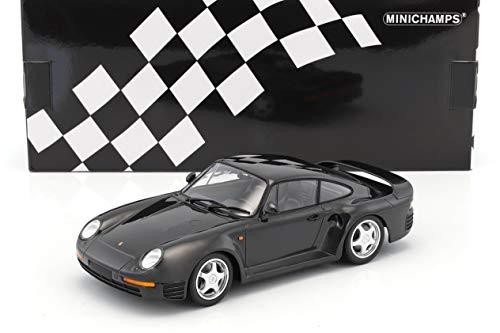 Minichamps-Porsche 959-1987Coche en Miniatura de colección, 155066205, Gris Metal