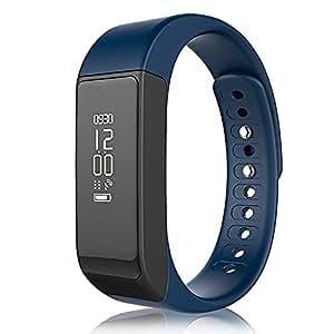 """YUNTAB Touch Screen 0.91 """"OLED Smart Watch smart bracelet Armband Fitness Tracker i5 plus Sport Tracker Wireless Aktivität Wristband + Sleep Monitoring Anruf und SMS-Benachrichtigungen für iPhone und Android Bluetooth 4.0 wasserdicht IP65 (blau)"""