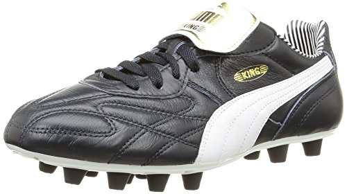 Puma Herren King Top Stripe Di F Fußballschuh Bleu (New Navy/White/Gold)