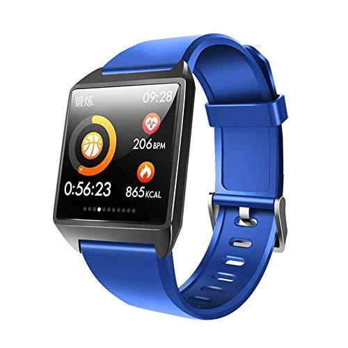 QUARKJK Fitness Tracker Smart Watch Bracelet Fitness Smartwatch Reloj Blood Pressure Heart Rate Monitor AGPS Pedometer for Man Woman,Blue