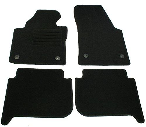 AD Tuning GmbH, Set di tappetini per Auto su Misura, in Velours, Colore Nero, Articolo HG12254V