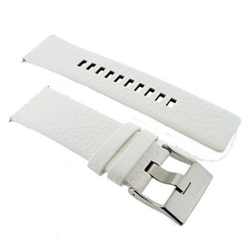 Diesel-weiße Leder (Diesel Uhrenarmband LB- DZ4240 Original Ersatzband DZ 4240 Leder 26 mm)