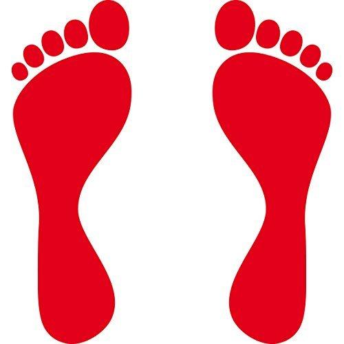 �ße Fußabdruck Fußspur Aufkleber Tattoo die cut Auto Heck Deko Folie (Fußabdruck-aufkleber)