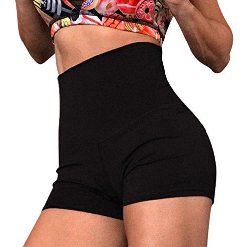 ESAILQ Shorts Women Yoga Skinny Sport Gym Pants Running Casual Elastic High Waist