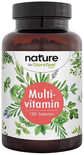 Multivitamin Forte 180 Tabletten - Alle wertvollen A-Z Vitamine und Mineralien - Hoch Bioverfügbarer Premium Vitamin-Komplex für 6 Monate - Laborgeprüfte Herstellung in Deutschland
