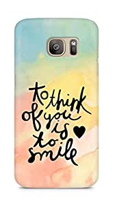 AMEZ to think of you is to smile Back Cover For Samsung Galaxy S7 Edge