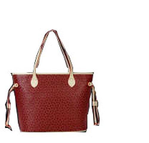 PACK Dreiteilige Taschenpaket Handtaschen Europa Und Die Vereinigten Staaten Mode Freizeit Tide Arrows Taschen,A:WineRed A:WineRed