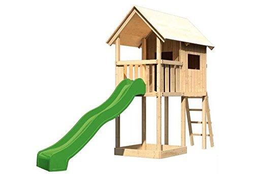 Karibu Spielturm Petterson SPARSET inkl. Schaukelanker und Wellenrutsche Außenmaß (B x T): 107 x 202 cm Dachstand (B x T): 137 x 209 cm Podesthöhe: 120 cm Gesamthöhe: 291 cm Pfostenstärke: 68 x 68 mm Sparset: - inkl. Schaukelanker und Wellenrutsche