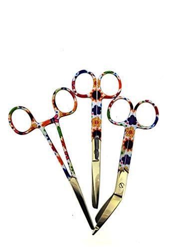 Juego tres tijeras vendaje tijeras enfermera diseño