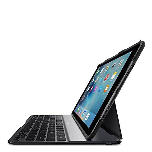 Belkin F5L192EDBLK 9.7Zoll Flip case Aluminium, Schwarz Tablet-Schutzhülle - Tablet-Schutzhüllen (Flip case, Apple, iPad Air 2, iPad Pro, 24,6 cm (9.7 Zoll), Tastatur, Aluminium, Schwarz) (Belkin Ipad 2 Case Tastatur)