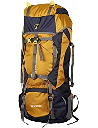 TRAWOC 60L Travel Backpack for Outdoor Sport Camp Hiking Trekking Bag  Camping Rucksack HK006 (Yellow a3c5c3eddf0db
