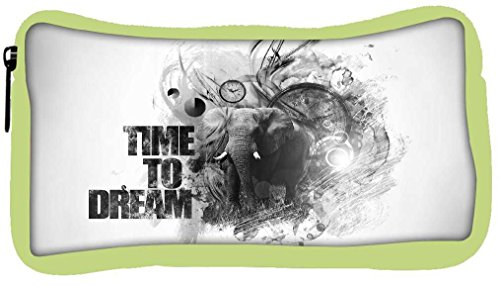 Snoogg Eco Friendly Canvas Time to Dream Designer Student Pen Pencil Case Coin Purse Pouch Cosmetic Makeup Bag