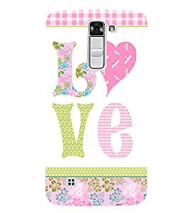 Love is My Boy Friend 3D Hard Polycarbonate Designer Back Case Cover for LG K7 4G Dual