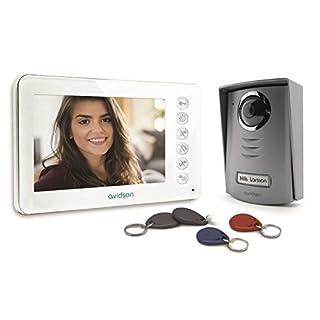 AVIDSEN 112249 Doorphone bifamiliare with color video camera 3.5