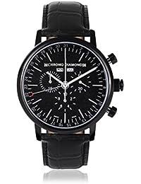 Chrono Diamond 82083_schwarz-44 mm - Reloj para hombres, correa de metal color negro