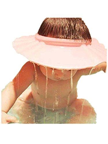 Baby Shower Cap❤️❤️Vovotrade Adjust Shampoo Dusche Baden Bad schützen Soft Cap Hut für Baby Pink (Rosa)