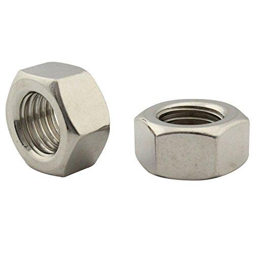 Sechskantmuttern (Standard Ausführung) - M16 - ( 5 Stück ) - DIN 934 / ISO 4032 - Edelstahl A2 (V2A) - SC934 | SC-Normteile -
