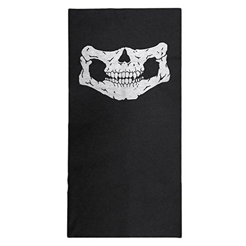 GreatWall Schädel Sturmhaube Traditionelle Gesichtsschutz Kopfbedeckung Maske Gator Schwarz NWT weiß + schwarz