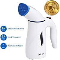 Aicok Clothes Steamer, 110ml Mini Handheld Garment Steamer Clothes with Fabric Brush & Portable Bag, Fast Heating Portable Travel Steamer Vertical Straightening for Home & Travel (Blue)