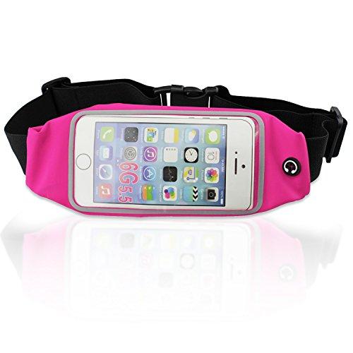 Preisvergleich Produktbild PsmGoods Runner Packung Jogging Gurt-Taillen-Beutel für iPhone 6s 6Plus 6 5s ID Geld Smartphone Key Rose Red