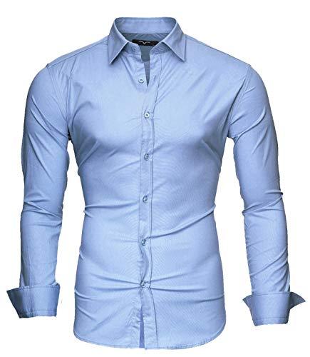 Kayhan uni camicia slim fit, skyblue (m)