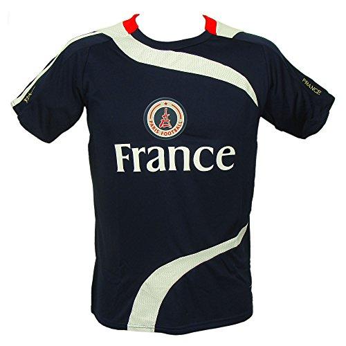 Recuerdos de Francia – Paris camiseta de fútbol para hombre – azul decb46008f2a4