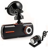 """geree 2,7""""1080P HD Dash Cam Anteriore e Posteriore Auto DVR doppia fotocamera 5milioni di pixel con classe di 140gradi grandangolare, visione notturna, CCTV in auto Loop di registrazione dvr incidente Video Registratore, HDM i, registrazione in loop, Copertura automatica, rilevamento del movimento, ecc."""