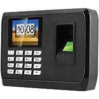 HFeng Pantalla LCD TFT de 2.4 Pulgadas Biométrica Inteligente Fingerprint Password Attendance Machine Registro de Registrador de empleados DC 5V Time Attendance Clock System
