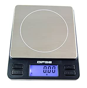 Professional Digital Pocket Scale Mini Scale, 2000g by 0.1g from DIPSE Germany by Dipse