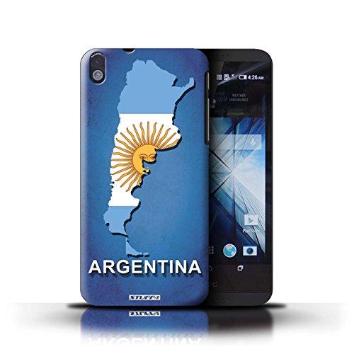 Kobalt® Imprimé Etui / Coque pour HTC Desire 816 / Thaïlande/Thai conception / Série Drapeau Pays Argentine