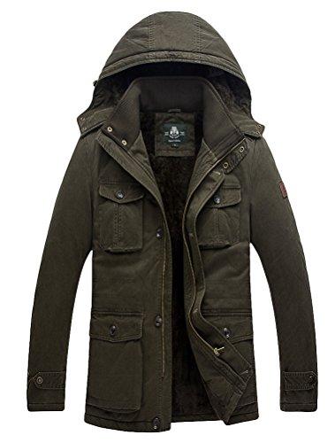 Vogstyle Uomo/Signore Cappotto Militare Cappotto Caloroso Stile-2 Verde 7XL
