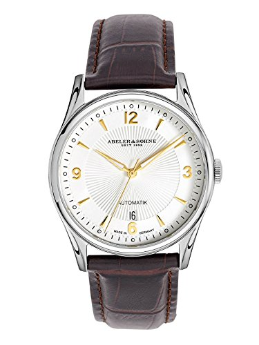 Abeler & Söhne Made in Germany Men's Automatic Watch with Leather Strap, Sapphire Glass and Date AS2667